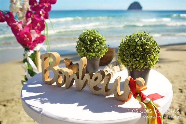 Ceremonie de mariage sur une plage de Martinique 3