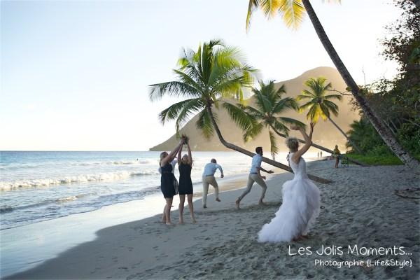 Ceremonie de mariage sur une plage de Martinique 33