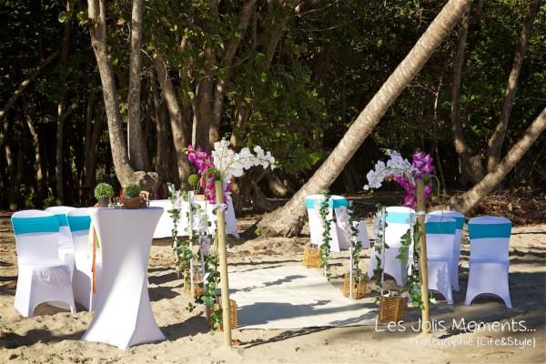 Ceremonie de mariage sur une plage de Martinique (5)