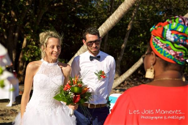 Ceremonie de mariage sur une plage de Martinique 5