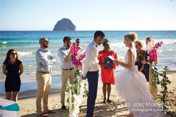 Ceremonie de mariage sur une plage de Martinique 9