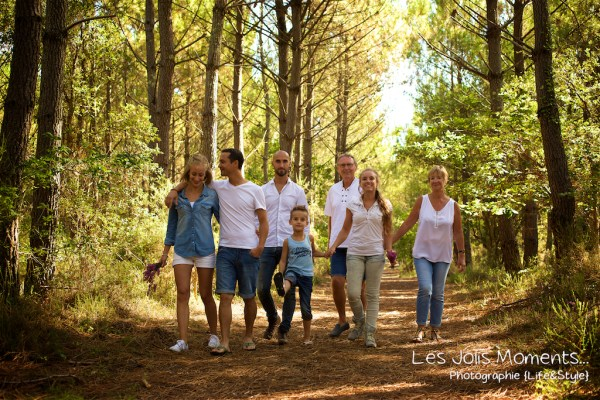 Seance photo grande famille au Courant d huchet 35