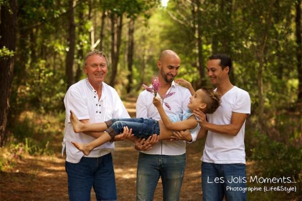 Seance photo grande famille au Courant d huchet 49