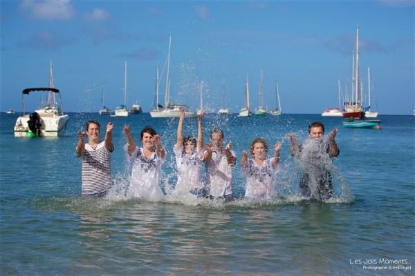 Seance grande famille sur la plage de Grande Anse 34
