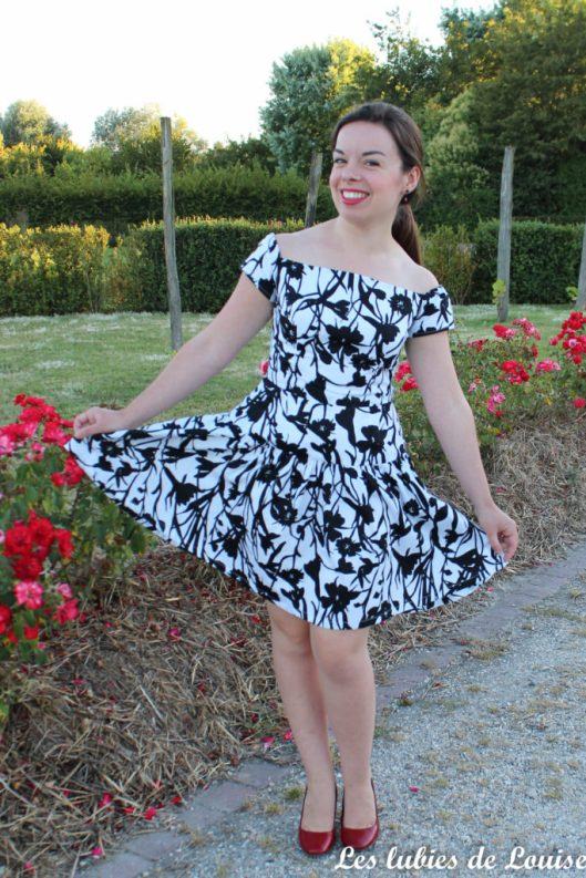Seda dress pauline alice black and white- les lubies de louise-10