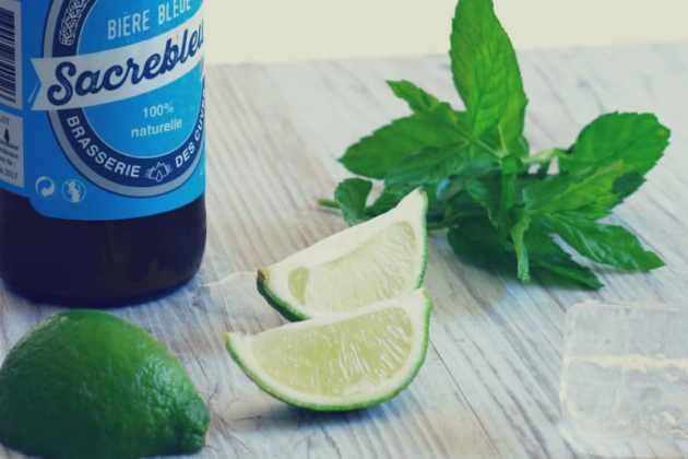 sacrebleu bière bleue et mojito
