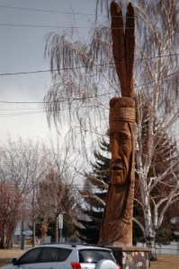 Carved Wooden Indian - by Peter Toth