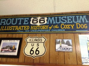 Route 66 Memorabilia in Cozy Drive In