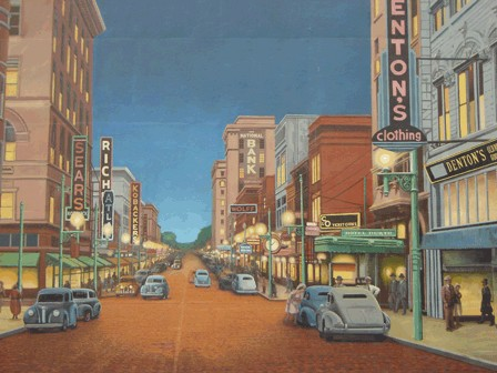Chillicothe Street 1940s by Robert Dafford in Portsmouth, OH