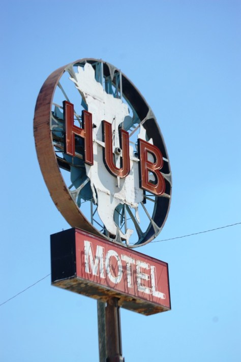 Old Neon for the HUB Motel in Rugby, ND