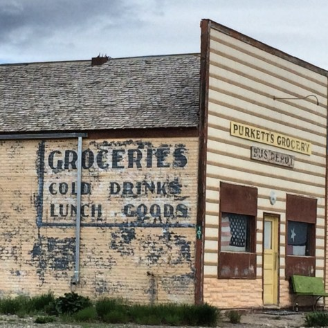 Old Purkett's Grocery in Bynum, Montana