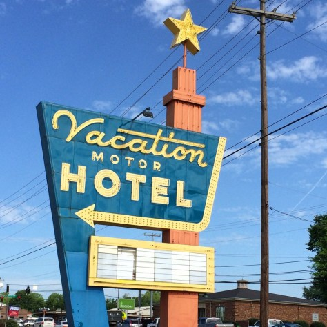Classic Neon Sign in Clarksville, even called a Motor Hotel, before the days of Motels...