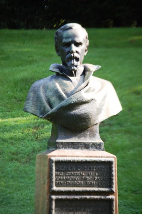 Stephen Burbridge bust in Vicksburg Military Park