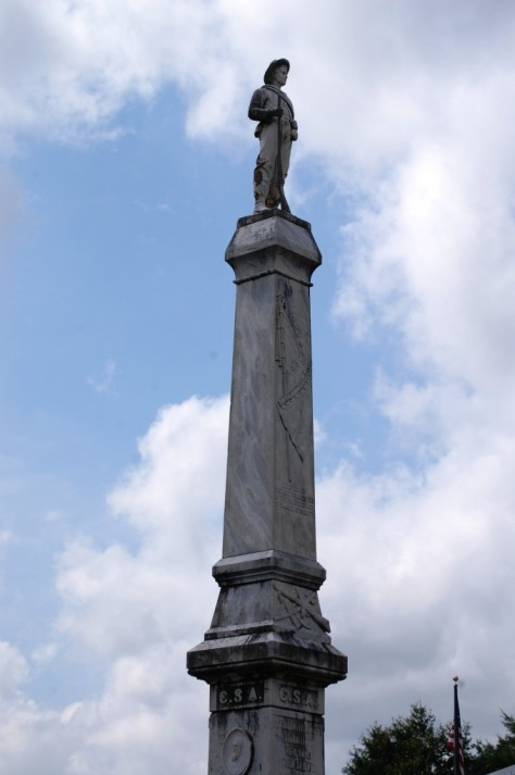 Monument to the Confederate soldiers from Claiborne County, Mississippi.