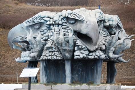 Thunderbird Sculpture in Bismarck, ND
