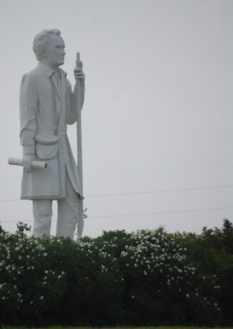 Stephen F. Austin Statue as seen from the Highway