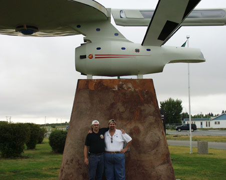 Visiting the Starship Enterprise in Vulcan, Alberta in 2007.
