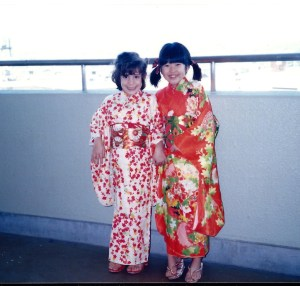 Marissa got decked out in a Kimono for New Year's Day with her friend Rika