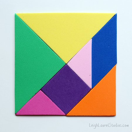 Magnetic Craft Foam Tangrams