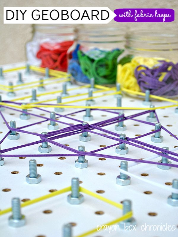 DIY Geoboard with Fabric Loops