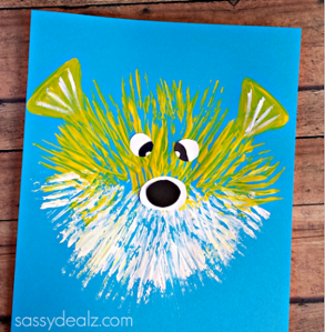 Kid's Puffer Fish Craft