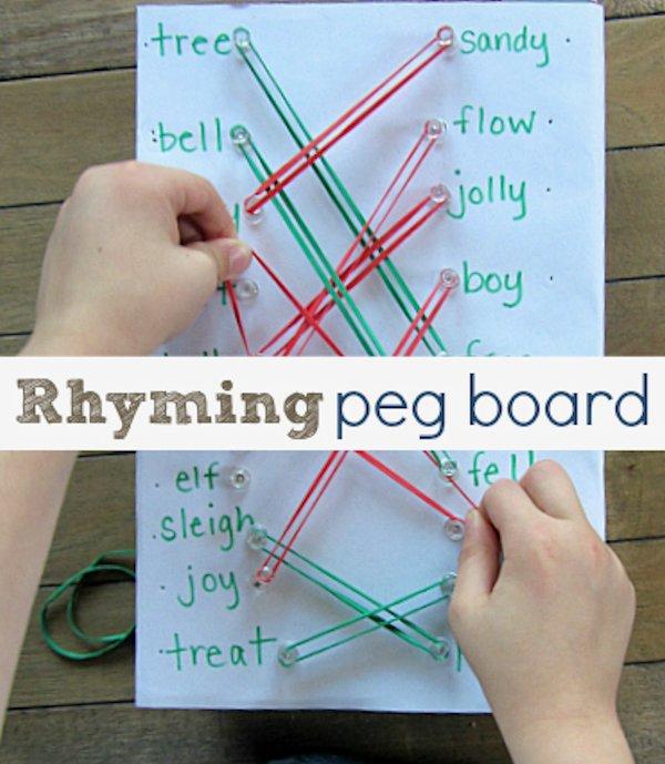 Rhyming Peg Board