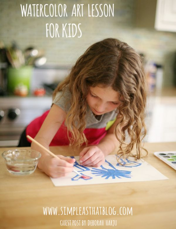 Watercolor Art Lesson for Kids