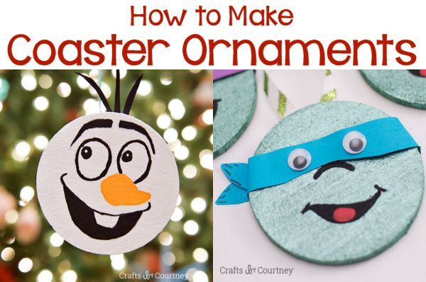 2 Ways to Turn Coasters into Fun Ornaments