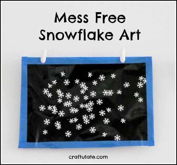 Mess Free Snowflake Art
