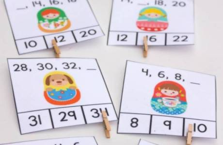 12 on Free Printable Skip Counting 2s Clip Cards