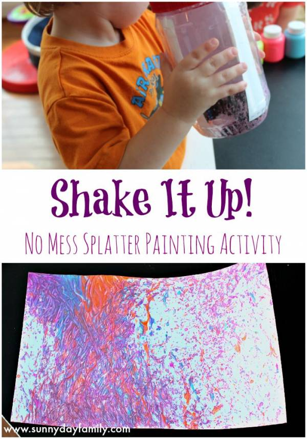shake it up painting activity