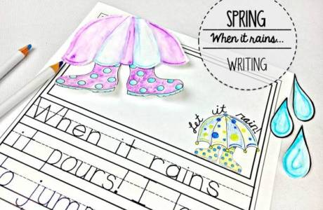 Spring Writing – When It Rains