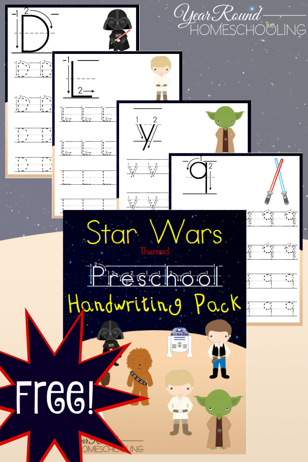 Free-Star-Wars-themed-Preschool-Handwriting-Pack-By-Year-Round-Homeschooling