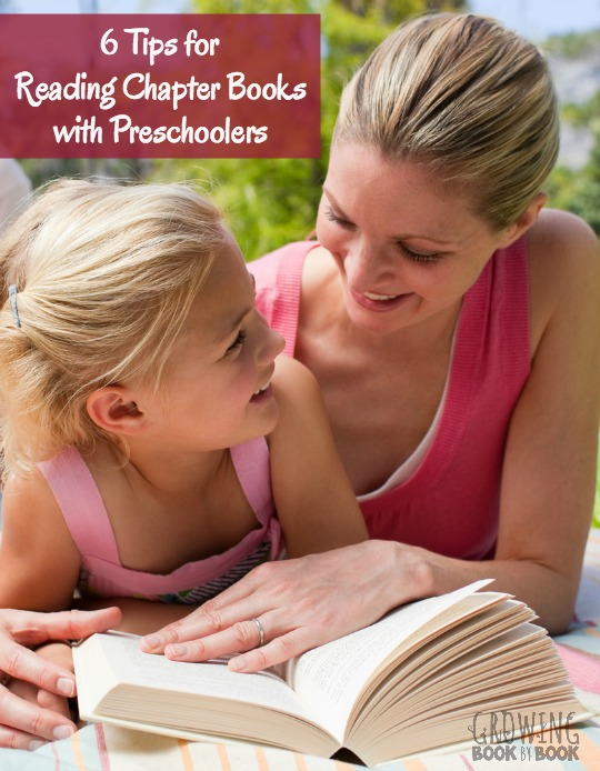 Encouraging kids to read and reading chapter books with preschoolers.