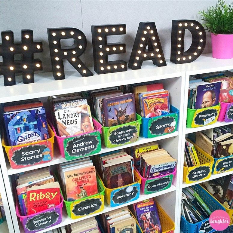 Classroom Library Ideas ~ Classroom library organization lessons with laughter