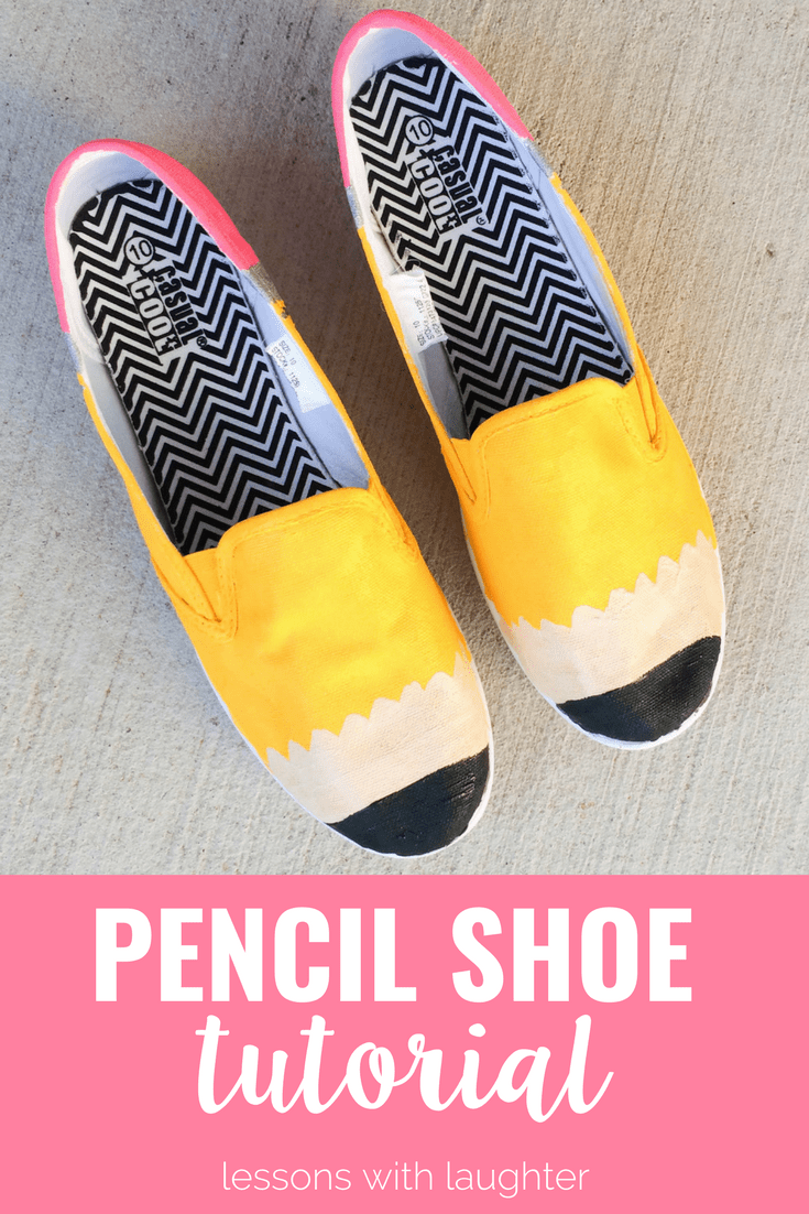 Pencil Shoe Tutorial: A Guide to Painting Your Own Shoes - Lessons ...