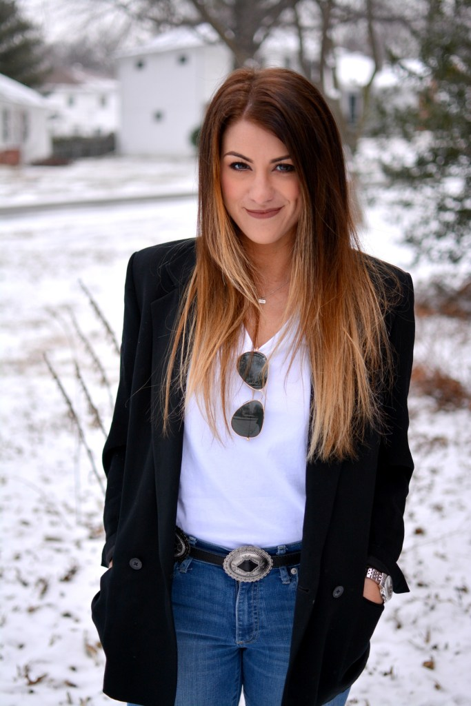 Ashley from LSR in a vintage Brooks Brothers blazer and a concho belt