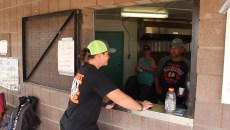 Sheldon Dyck running the concession at local fundraising tournament.