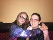 Logan [my sister] and I at my 19th birthday dinner on May 10. This is one of the only photos where we are both smiling.