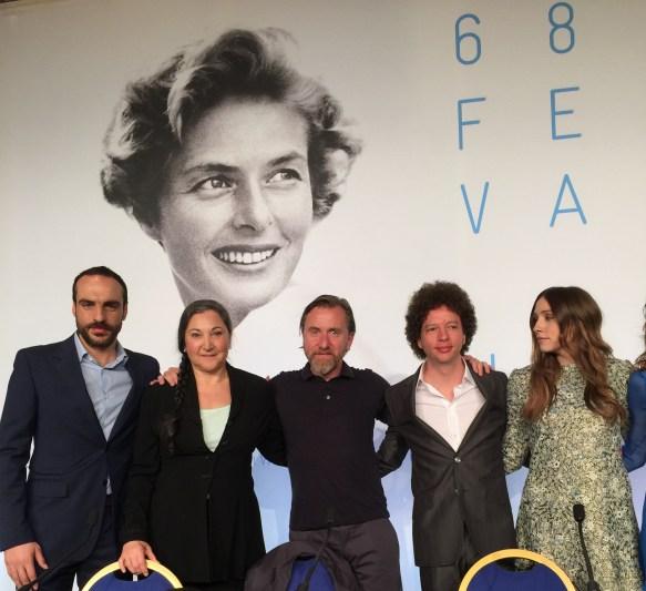 Moises Zonana, Robin Bartlett, , Tim Roth, Michel Franco y Sara Sutherland de Chronic