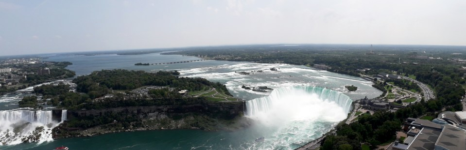 Canadian and American falls