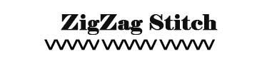 Sewing machine zigzag stitch