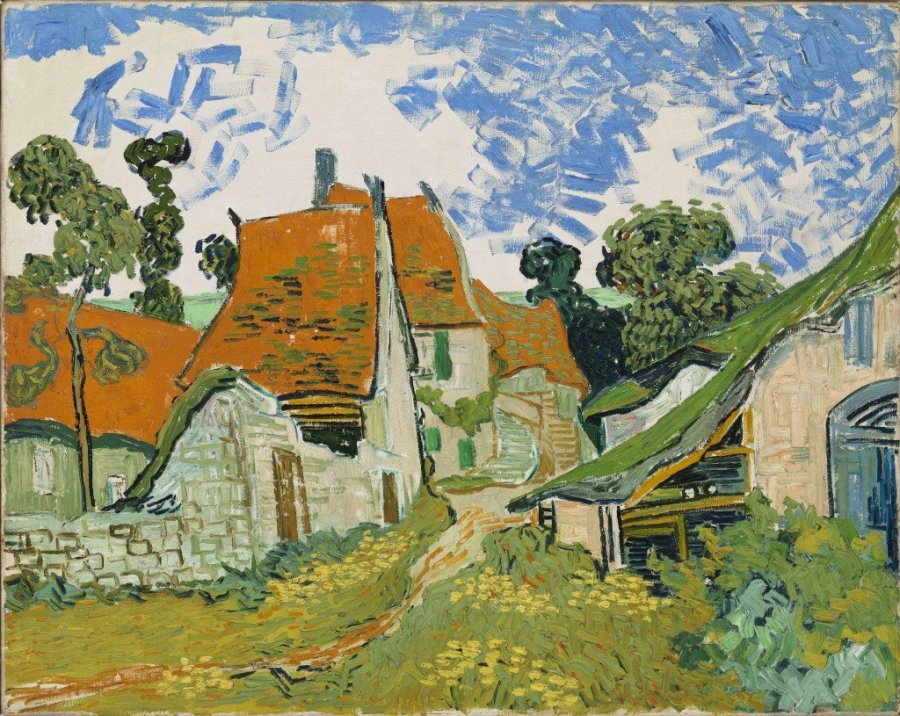 """Van Gogh's Street in Auers-sur-Oise from """"Unfinished"""" exhibition at the Met Breuer, Metropolitan Museum of Art,"""