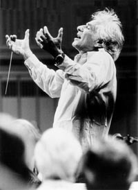 Leonard Bernstein conducting. Photo Paul de Heuck, courtesy of the Leonard Bernstein Office, Inc.