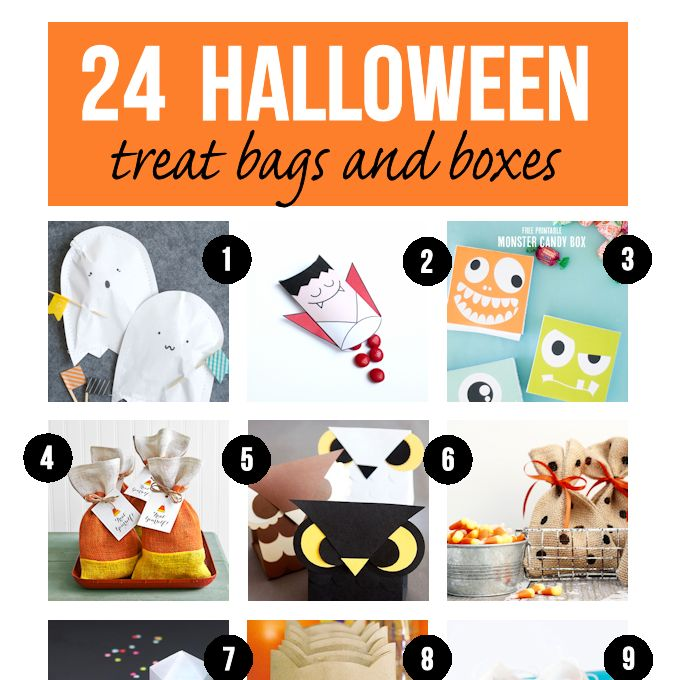 24 Halloween Treat Bags and Boxes