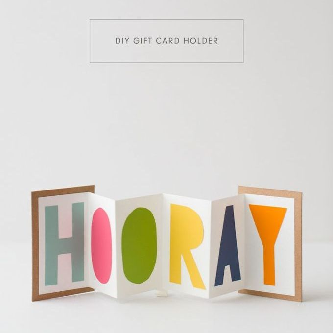 DIY Accordion Gift Card Holder