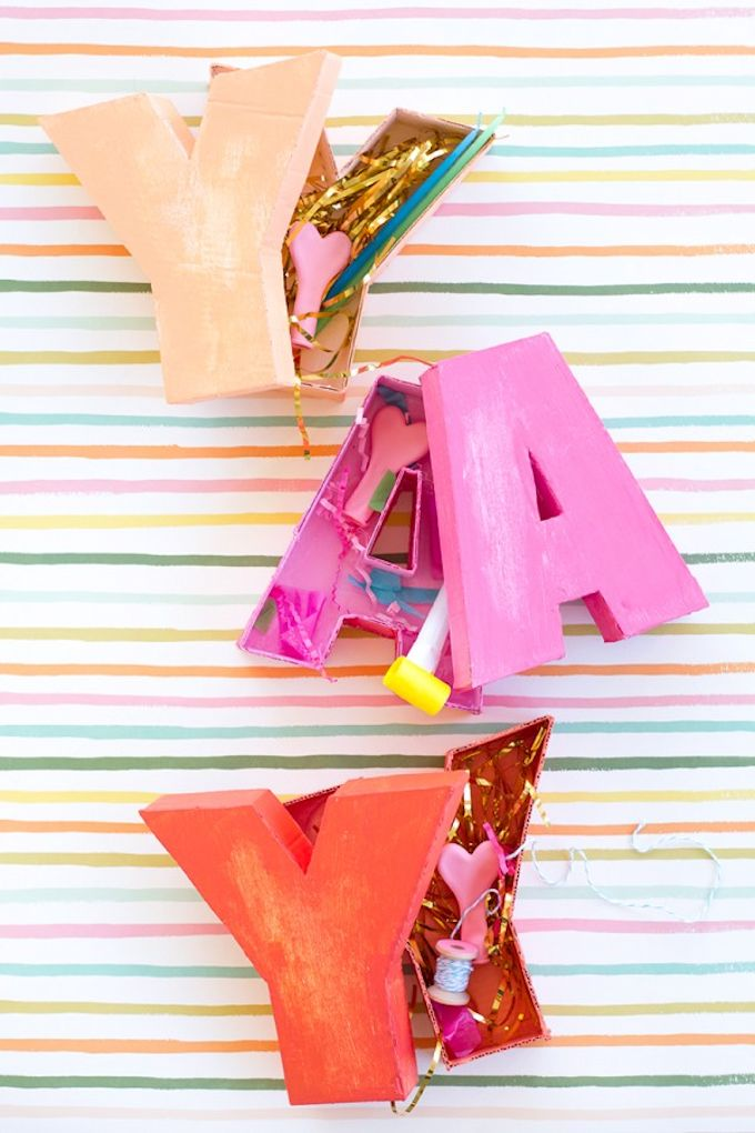DIY Letter Shaped Boxes