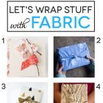 Reusable Fabric Gift Wrap