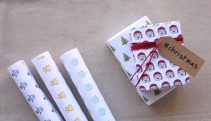 Printable Emoji Gift Wrap