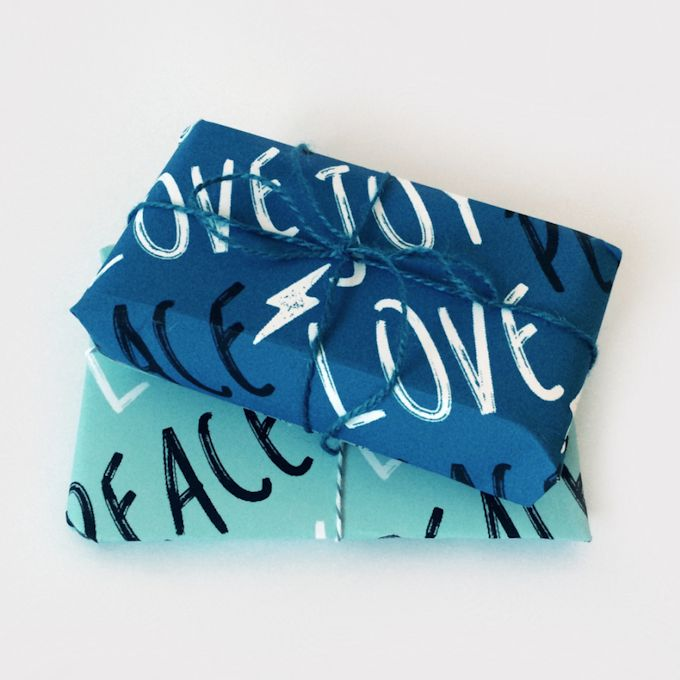 Peace Love Joy Printable Wrapping PaperLets Wrap Stuff